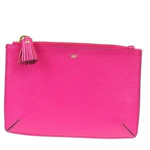 Anya Hindmarch Leather Coin Purse/coin Case Pink